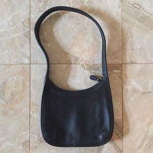 Vintage Coach Mini Ergo Black Leather Purse